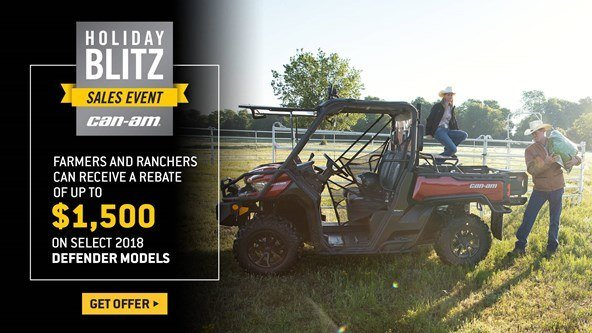 Can-Am - Holiday Blitz Sales Event - Defender Models